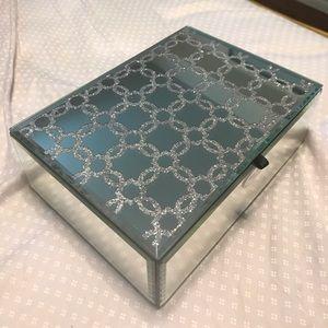 BELLA LUX Rectangular Mirror Jewelry Box